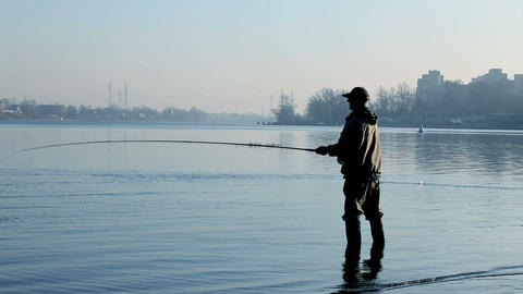 Fly fisherman Stock Video Footage