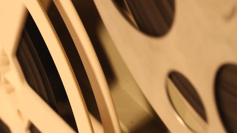 8mm Projector Reels 02 sound Stock Video Footage