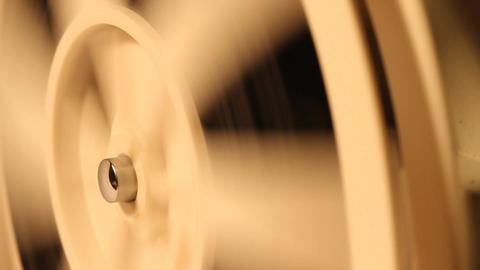 8mm Projector Reels 05 Rewind sound Footage