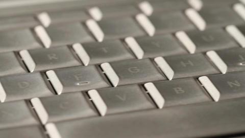 Laptop Keyboard DOLLY 01 Stock Video Footage