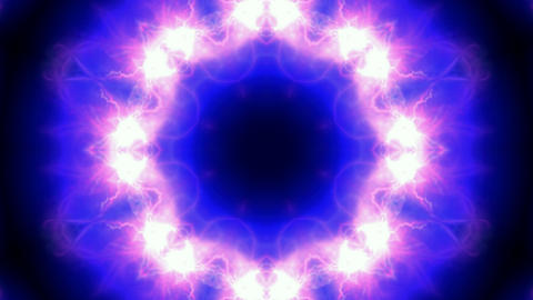 retro lotus flower pattern,lightning,ion collider,natural... Stock Video Footage