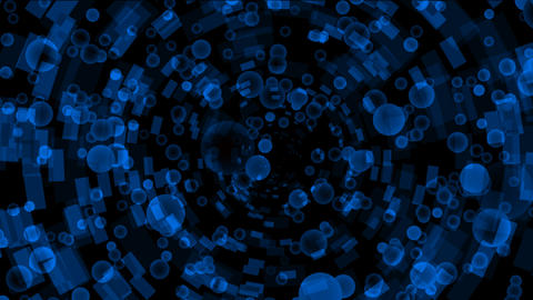 blue bubbles flying from a binary internet... Stock Video Footage