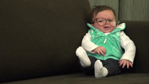 Wacky Baby Wearing Adult Glasses Live Action
