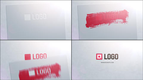 Stencil Logo Reveal After Effects Template