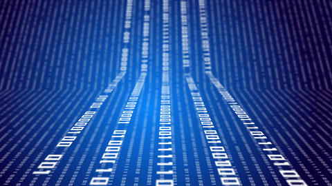 Binary code on abstract technology background Animation