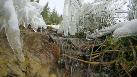 4k, The Snow Melts, The Creek Flows stock footage