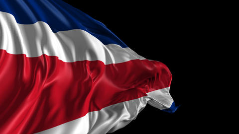 Flag Costa Rica Animation