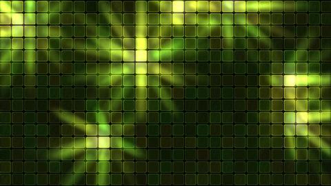 Lights Shining Through Glass Tiles - Loop Green Animation