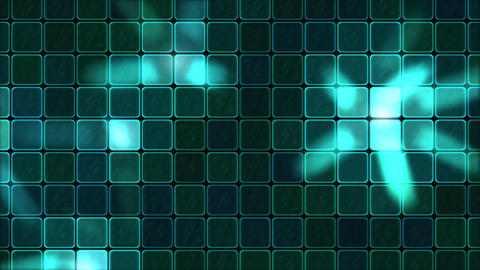 Lights Shining Through Glass Tiles - Loop Turquoise Animation