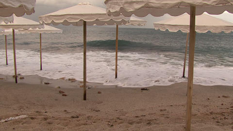 Evening Beach stock footage