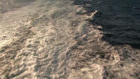 Wave At Stern Of Ship stock footage