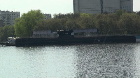 1080p Submarine In The City stock footage