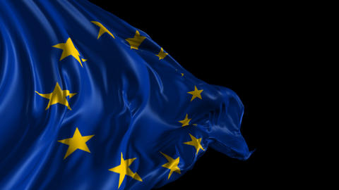 Flag Of The European Union stock footage
