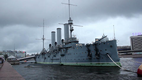 Cruiser Aurora stock footage