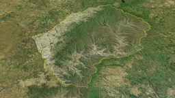 Lesotho, glide over the map, outlined Animation