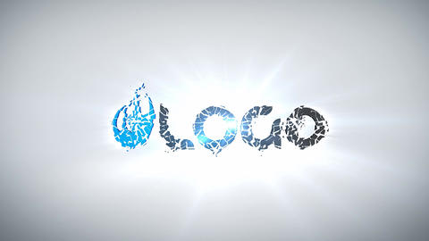 Logo Shatter Formation After Effects Template