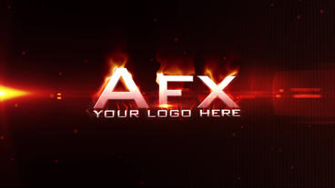 Fire Logo Intro stock footage