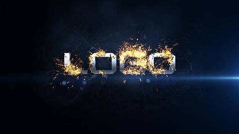 Logo Burn After Effects Template
