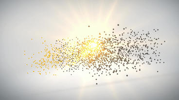 Particle logo formation After Effects Template