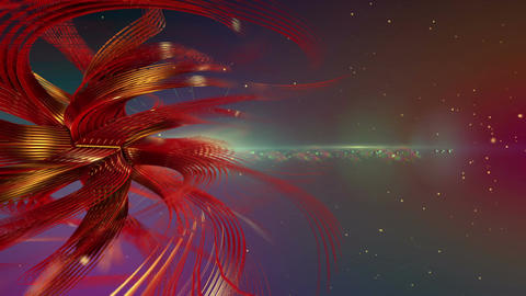Abstract rotating twisted 3d shape Animation