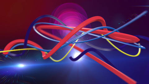 Colorful Abstract Lines Computer Animation. Loop animation Stock Video Footage