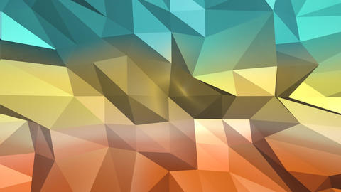 Low poly abstract background. Loop animation Animation