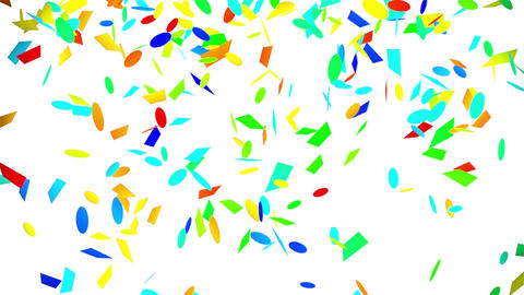 colorful confetti falling seamless loop with luma matte Animation