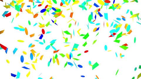 colorful confetti falling seamless loop with luma matte Animation