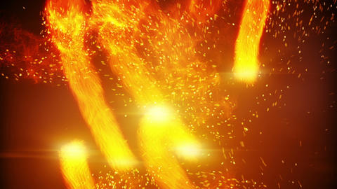 fireballs and spaks rushing loopable background Animation