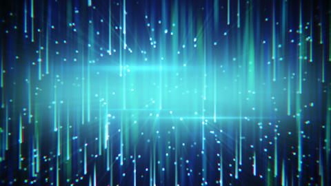 falling squares with light streaks loopable Animation