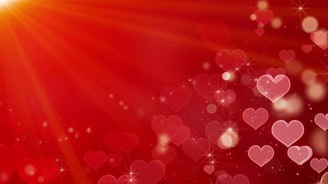 heart shape bokeh lights and stars loop Animation