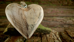Rustic Wooden Crafted Love Heart HD Stock Footage stock footage