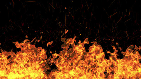 Fire Burning Wild stock footage