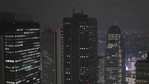 Evening - Shinjuku skyline Footage