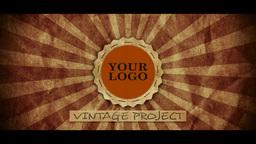 Vintage Logo stock footage