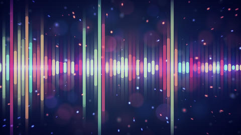 multicolor digital equalizer loop Animation