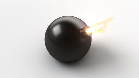 exploding bomb with a green screen, Stock Animation