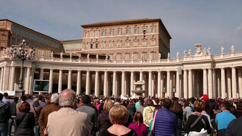 Angelus Sunday Prayer Pope Francis Vatican Rome Roma Italy Italia Footage