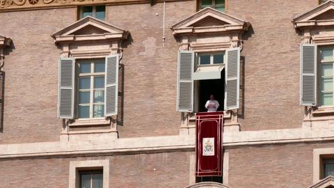 Pope Francis Angelus Sunday Prayer Vatican Rome Roma Italy Italia Footage
