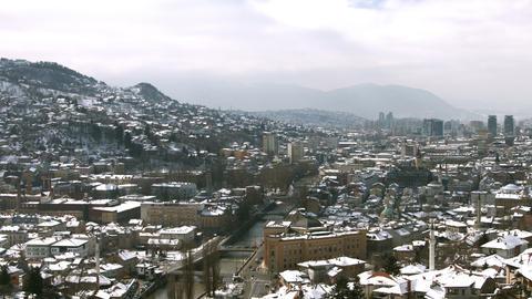 4k Sarajevo, Bosnia and Herzegovina - pan Footage