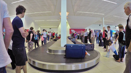 Timelapse video of traveller at the baggage claim of the Adelaide Airport Footage