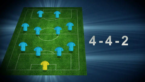 Football tactic - Blue team Animation