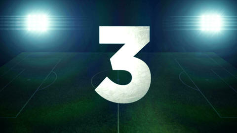 Top 10 Countdown - Football stock footage