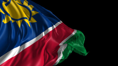 Flag of Namibia Animation