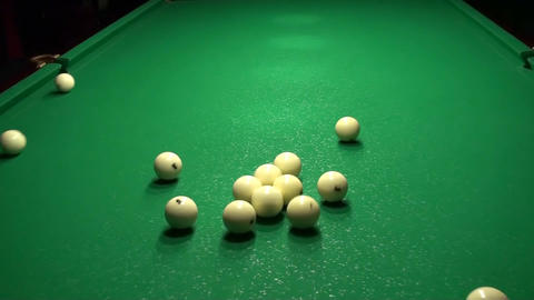 Billiards Beginning Of The Game 2 stock footage