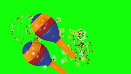 Maracas shaking to a groovy rhythm Animation
