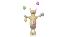 Juggling Bunny stock footage