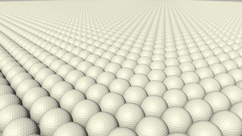 Golf Balls stock footage