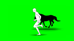 MAN AND HORSE ARE RUNNING Animation