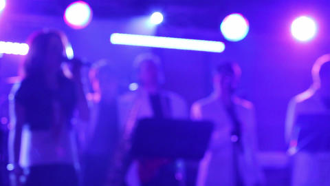 Disco music concert 19c Footage